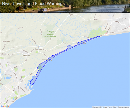 Coastal Areas Of Pevensey Seafront Flood Alerts And
