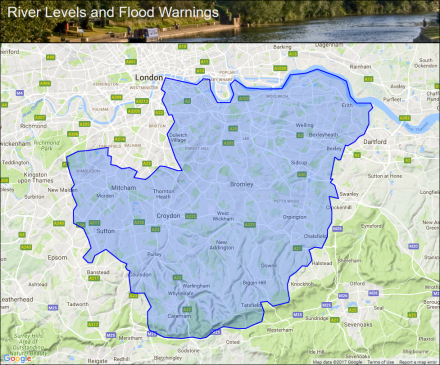 South East London Map.Groundwater Flooding In South East London Flood Alerts And