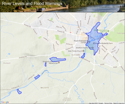 River Avon At Stratford Upon Flood Alerts And Warnings The UK Levels Website