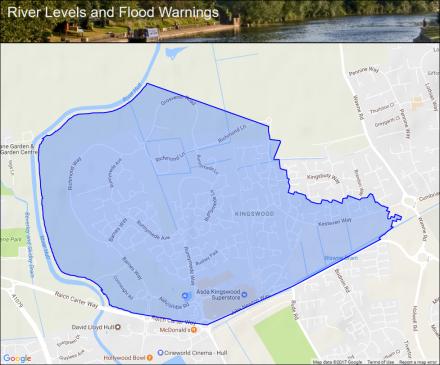 Map Of Uk Hull.River Hull At Kingswood Flood Alerts And Warnings The Uk River