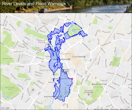 Leicester City Uk Map.River Soar At Leicester City Flood Alerts And Warnings The Uk