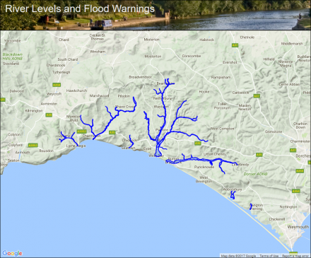 Map Of Uk Dorset.West Dorset Rivers And Streams Flood Alerts And Warnings The